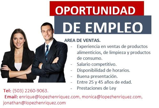 Oportunidad de empleo 2
